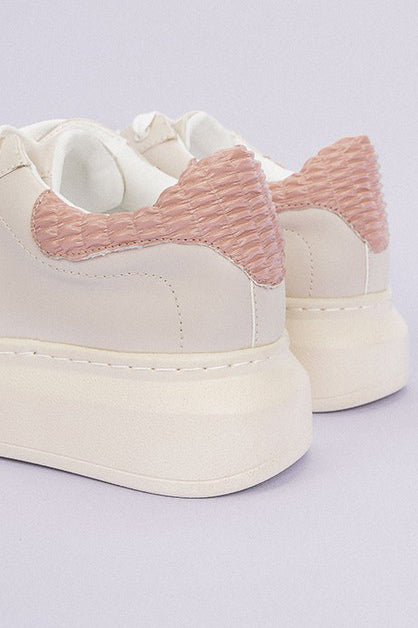 ASHLEY BEIGE PLATFORM SNEAKERS
