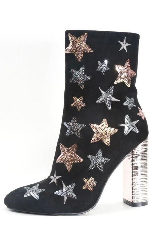 SELENA SEQUIN STAR BOOTIES