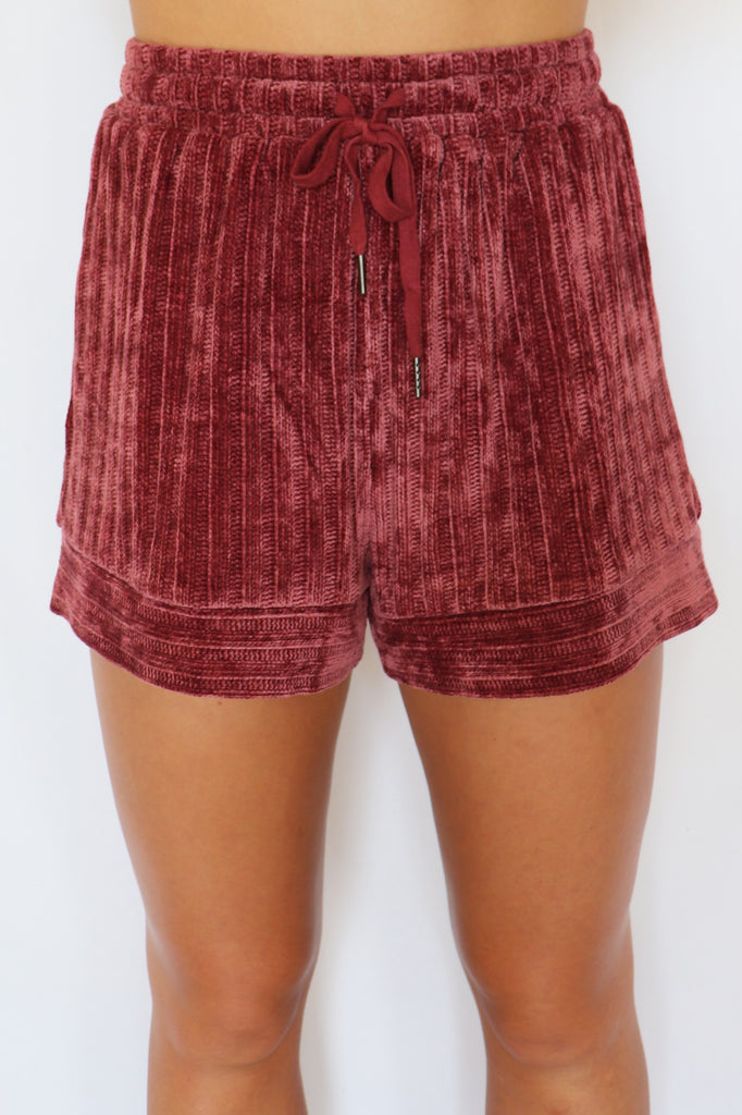LOUNGING AROUND SHORTS  - 2 COLORS