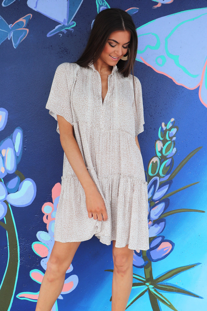 ALL THE SWEETNESS TIERED SWING DRESS