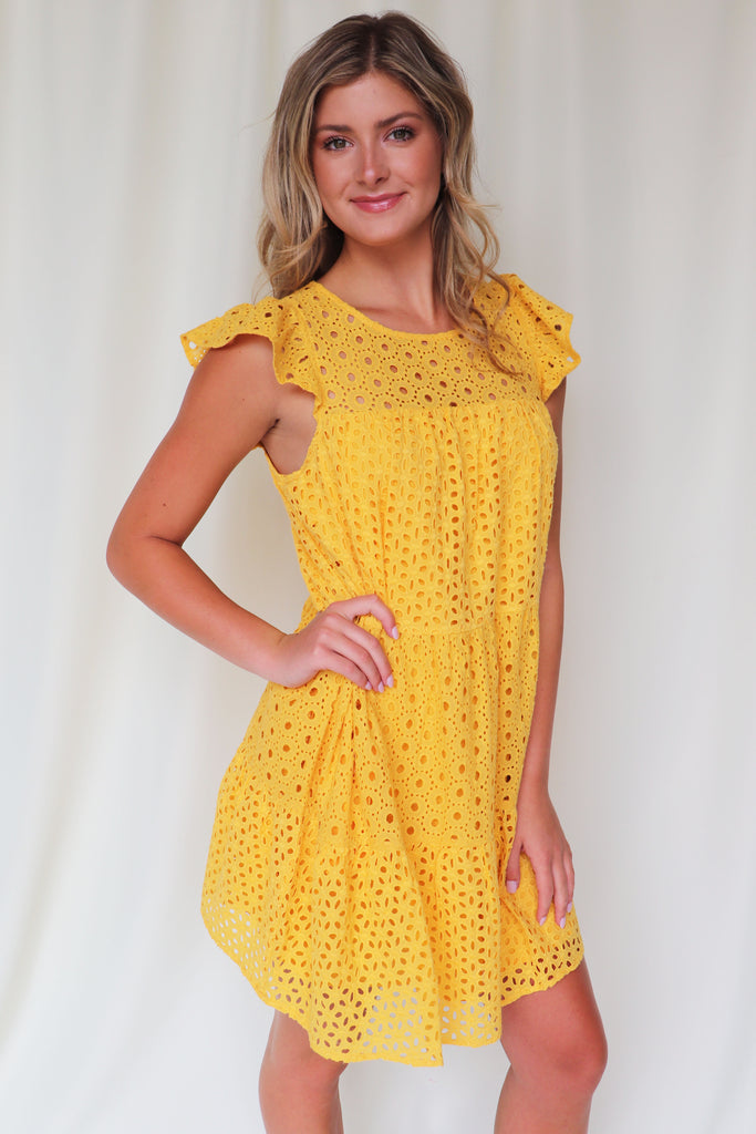 SUNNY SIDE UP EYELET DRESS