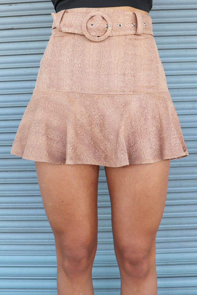 ONLY IN TIME RUFFLE SKIRT