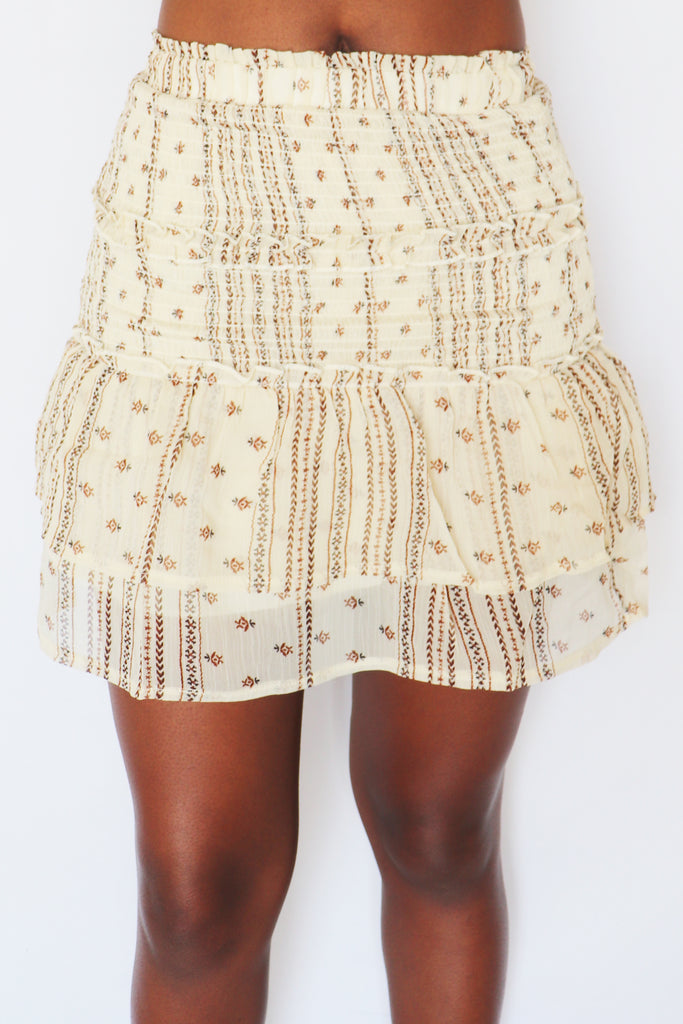 SPEND YOUR LUCK BOHO MINI SKIRT | SKYLAR + MADISON Blu Spero online shopping
