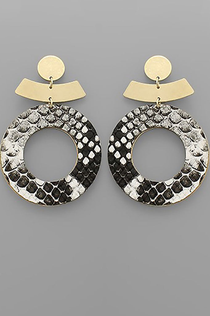GOLD SNAKE CIRCLE EARRINGS
