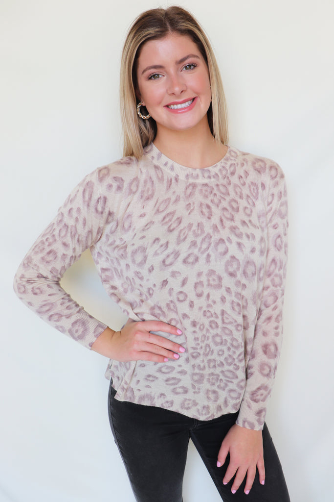 WISH GRANTED LEOPARD TOP | Olivaceous Blu Spero online shopping