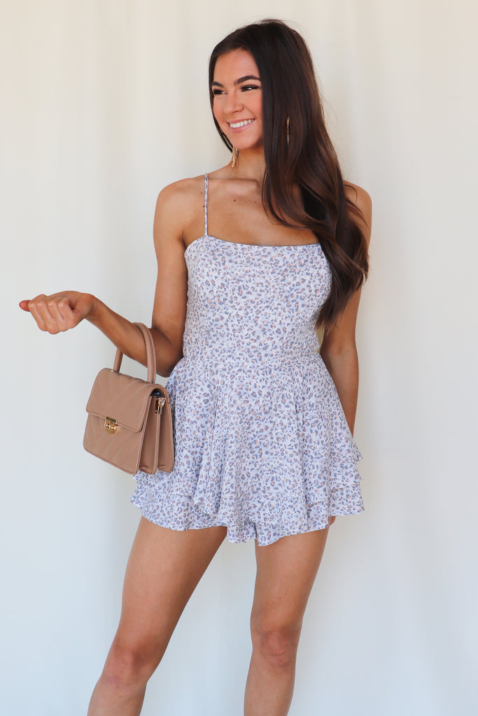 HEART EYES ANIMAL PRINT ROMPER