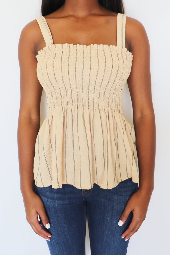 SOAK IT UP SMOCKED TANK | CRESCENT Blu Spero online shopping