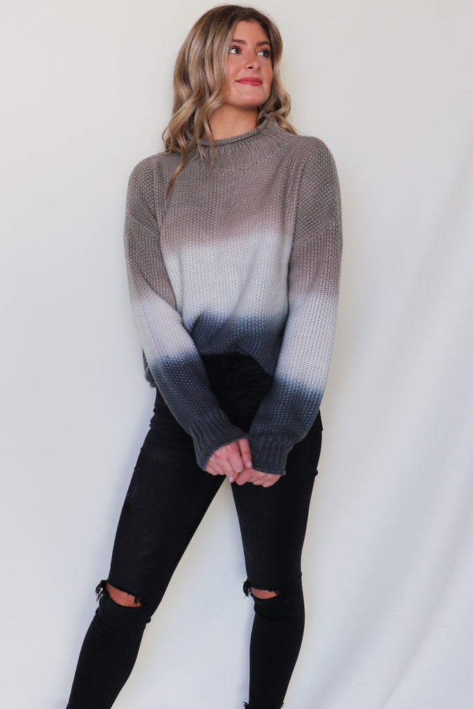 CRUSH OMBRE KNIT SWEATER