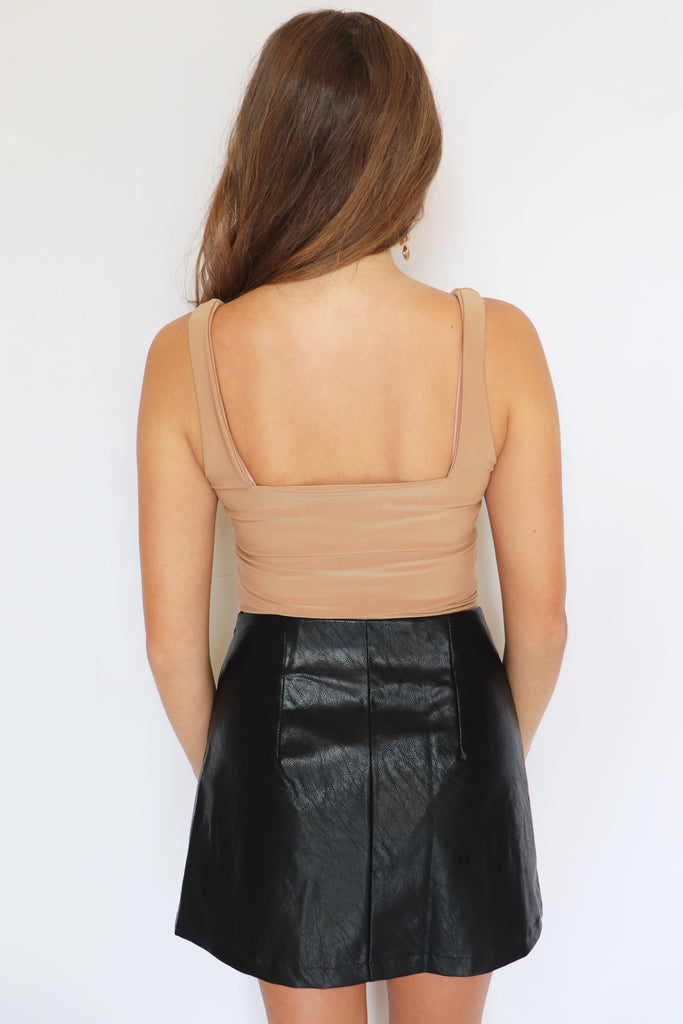 GIVING ME KIM VIBES MOCHA CROP TOP | BETTER BE Blu Spero online shopping