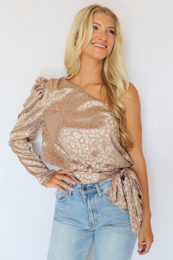 CRY ME A RIVER ONE-SHOULDER TOP - 3 COLORS