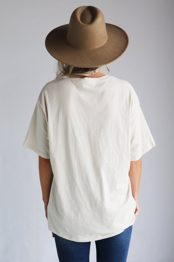 Cream short sleeve tshirt