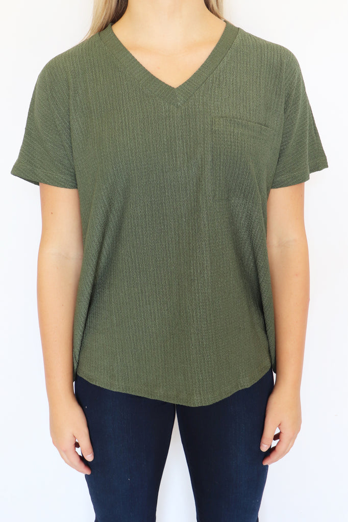 LET'S WANDER OLIVE TOP | Entro Blu Spero online shopping