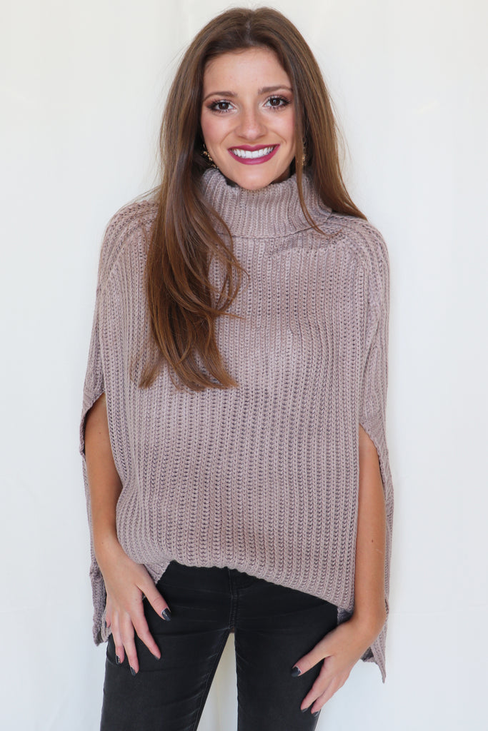 MY CRUSH PONCHO SWEATER - 2 COLORS | MAIN STRIP Blu Spero online shopping