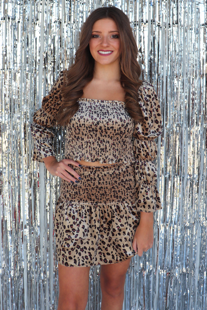 RULE BREAKER LEOPARD TOP