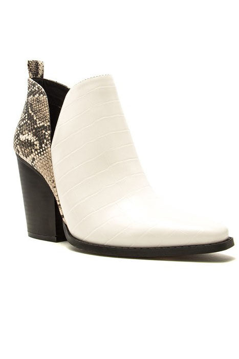 MANDI WHITE BOOTIES