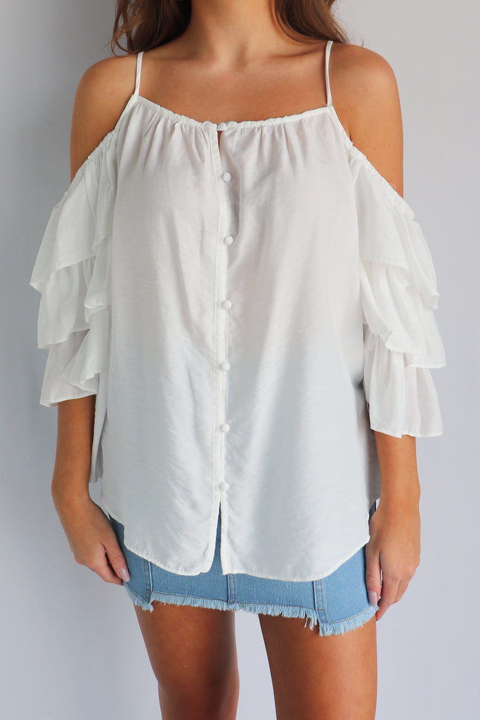 Button down front blouse