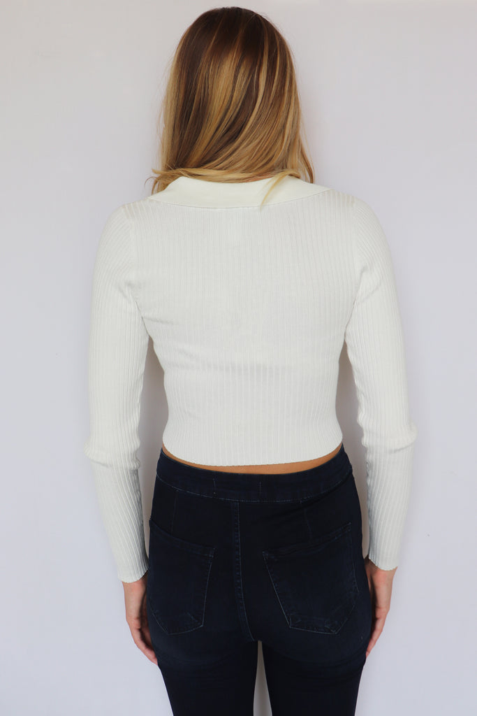 TURN BACK TIME COLLARD SWEATER