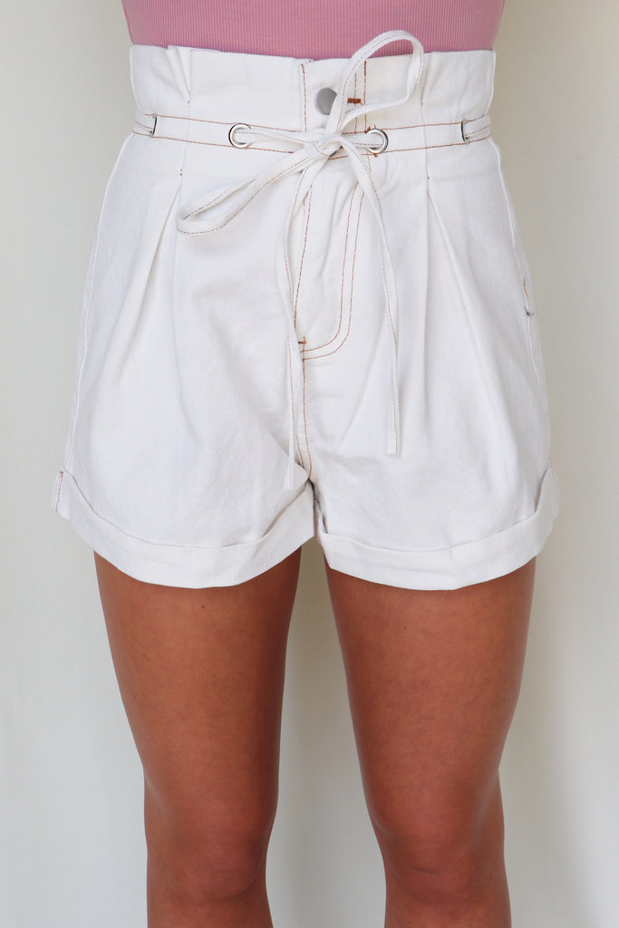 MAGICAL PLACE PAPER BAG DENIM SHORTS