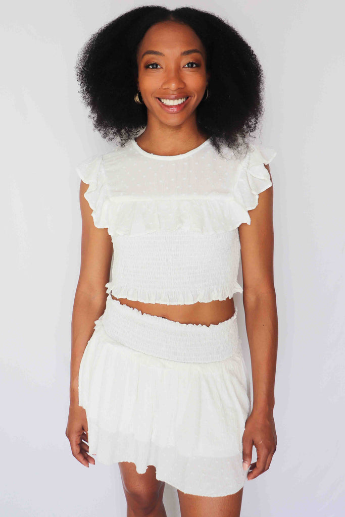 THE PERFECT STORM WHITE SKIRT | OLIVACEOUS Blu Spero online shopping