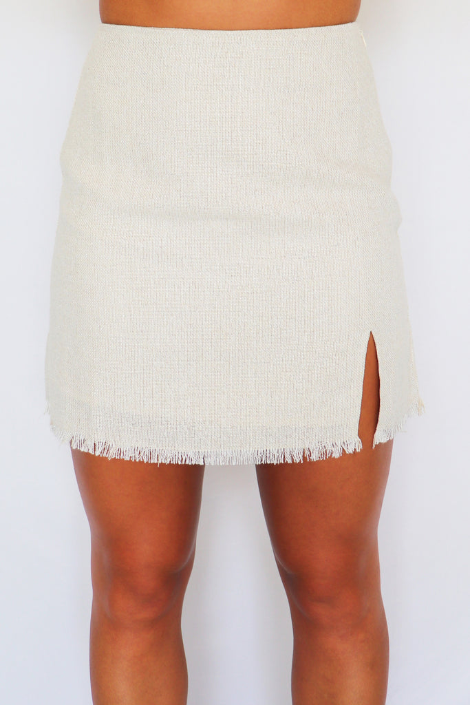 THE WAY TO BRUNCH MINI SKIRT | LE LIS Blu Spero online shopping