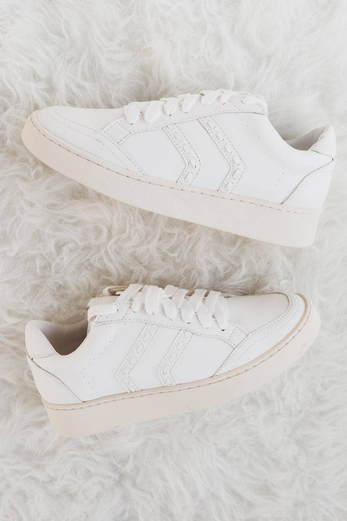 BOSSIER WHITE DETAILED SNEAKER