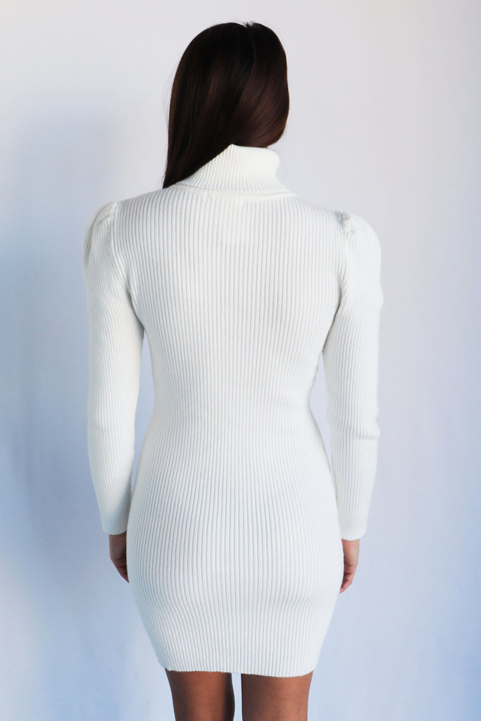 RISE AND SLAY WHITE SWEATER DRESS | IDEM DITTO Blu Spero online shopping