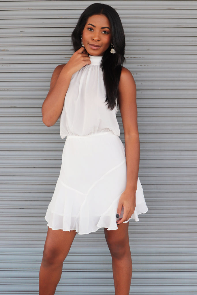 GIRL BOSS WHITE DRESS