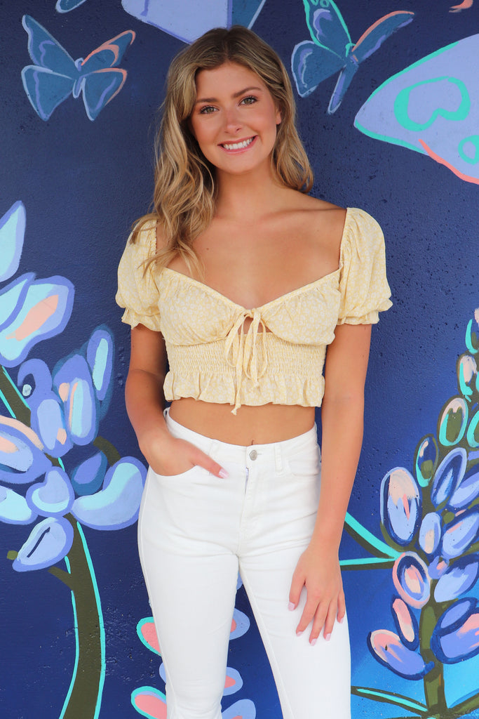 BEACH TIME CROP TOP - 2 COLORS