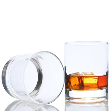 Taylor'd Milestones Whiskey Glass Set - Premium 10 oz Scotch Glasses, Set of 2 Rocks Style Glassware for Bourbon and Old Fashioned Cocktails