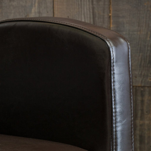 Sam Brown Bonded Leather Dining Arm Chair