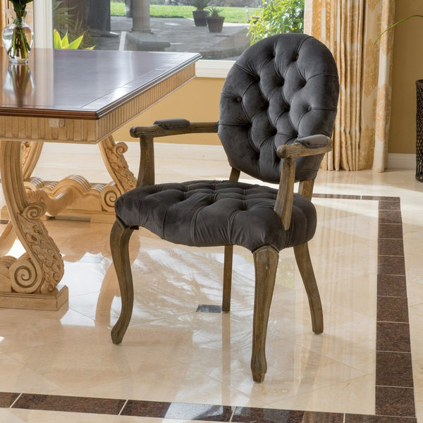 Boyer French Design Dining Chair in Black or Charcoal