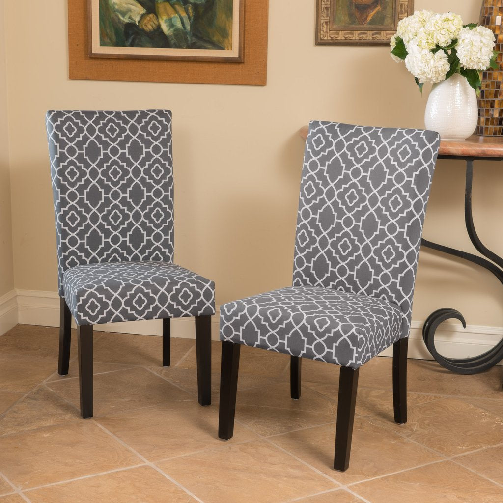 Millie Patterned Fabric Dining Chair (Set Of 2) In Many Color Combos