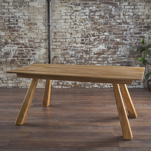 Mid Century Natural Finished Imported Mango Wood Dining Table