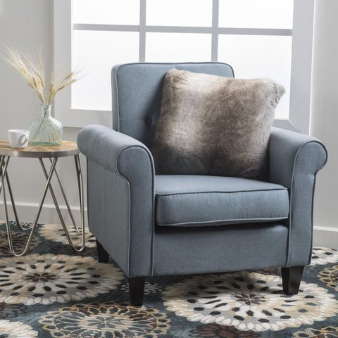 Ashley Fabric Club Chair in Blue or Grey