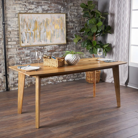 Natural Finished Mango Wood Dining Table