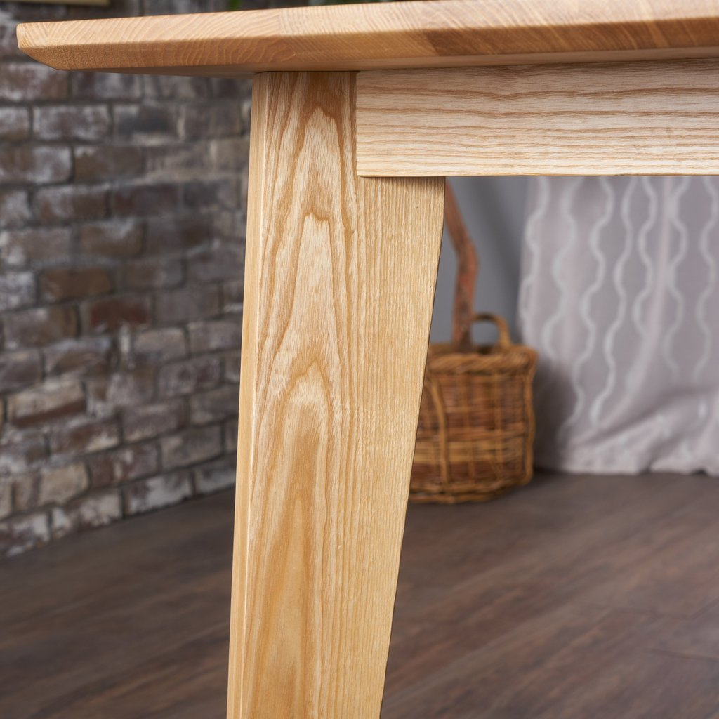 ... Neutral Finished Ash Wood Dining Table