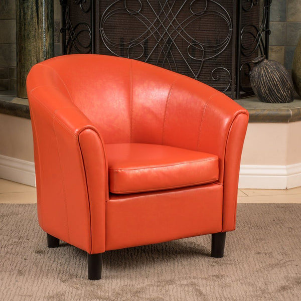 Cameron PU Leather Club Chair in Many Color Options