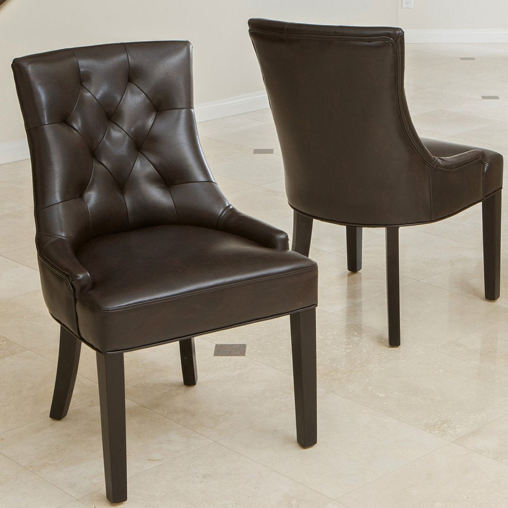 Ewing Bonded Leather Dining Chairs (Set Of 2)