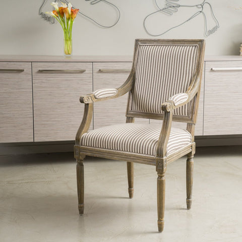Blankenship French Design Dining Arm Chair