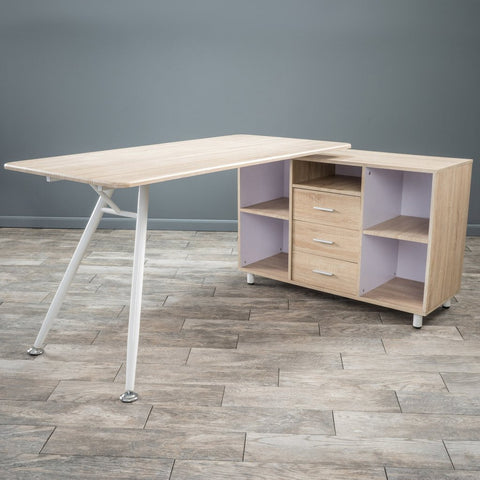 Morton Computer Desk With Storage Cabinet