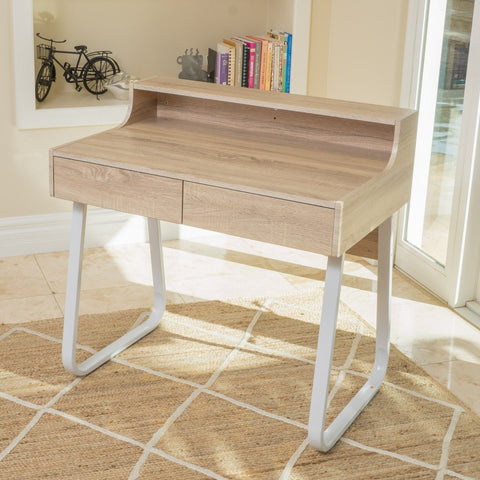 Middleton Wood Computer Desk With Drawers