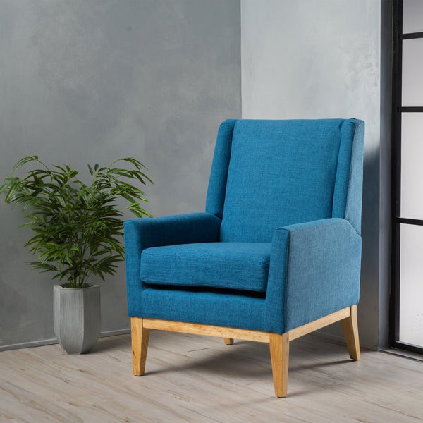 Andrea Mid Century Design Fabric Accent Chair in Many Color Options