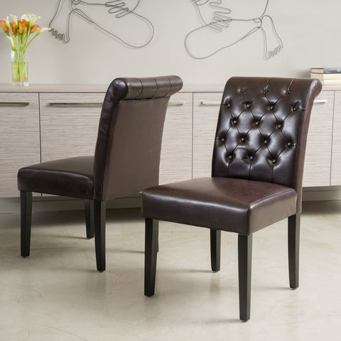 Brownson Leather Dining Chair (Set Of 2)