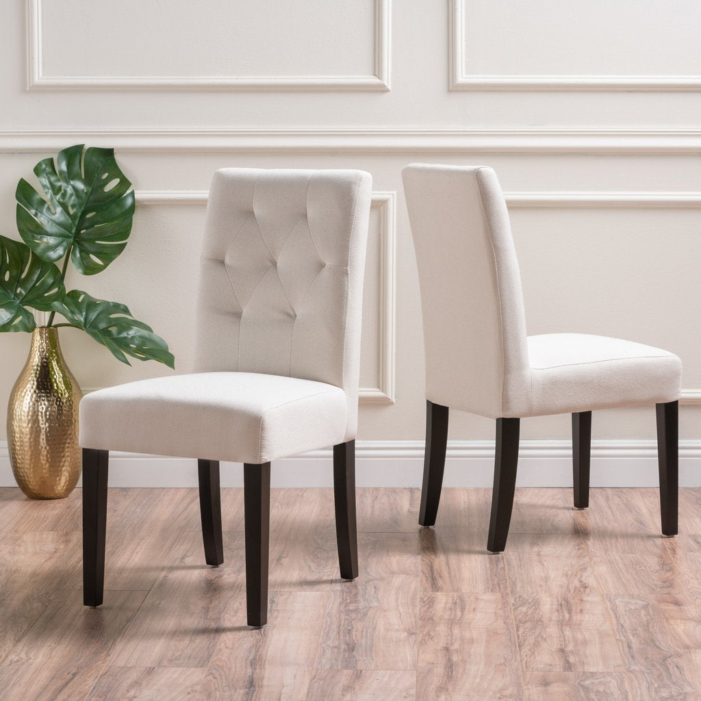 Gates Fabric Dining Chairs (Set Of 2) in Ivory or Grey