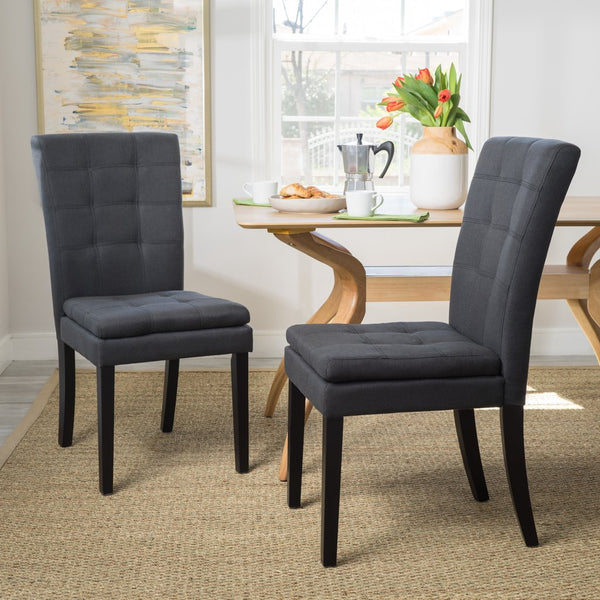 Cecile Design Inspired Fabric Dining Chair (Set Of 2) in 3 color options