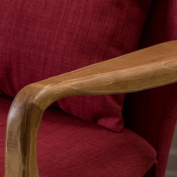 Fin Juhl Style Accent Arm Chair in Natural Wood Frame in Many Color Options