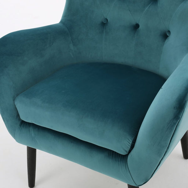 Amy Velvet Wingback Arm Chair in Many Color Options