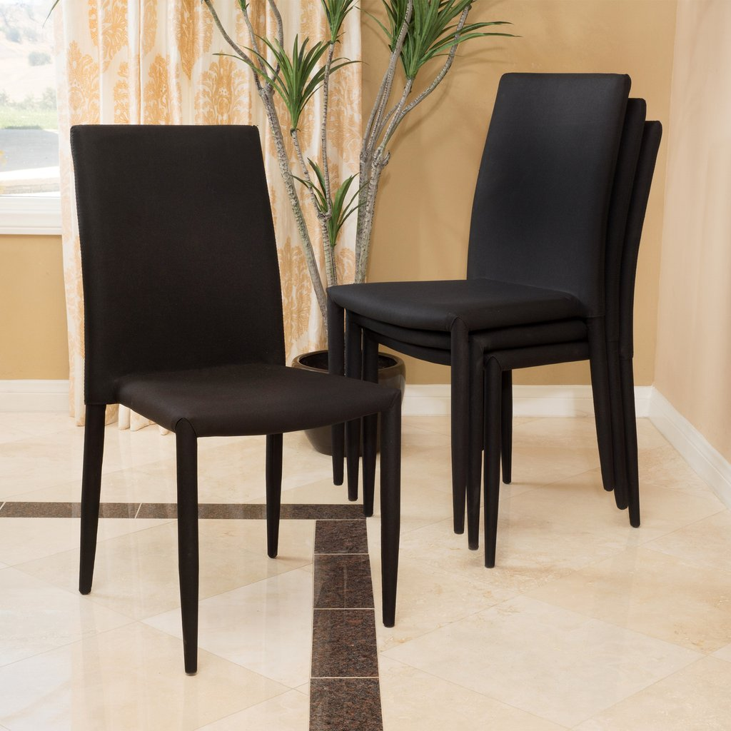 Sally Stackable Dining Chair Set Of 4 Black Or Brown Mcm Classics