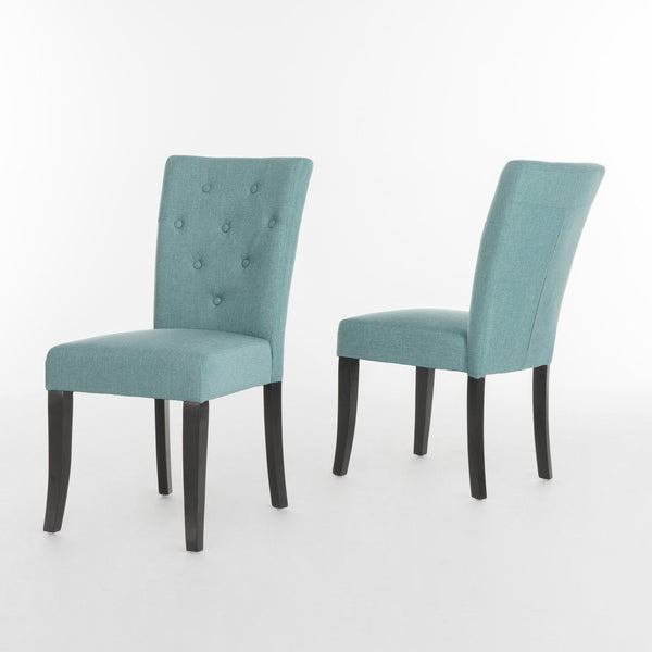 Blue Fabric Dining Chair (Set Of 2)