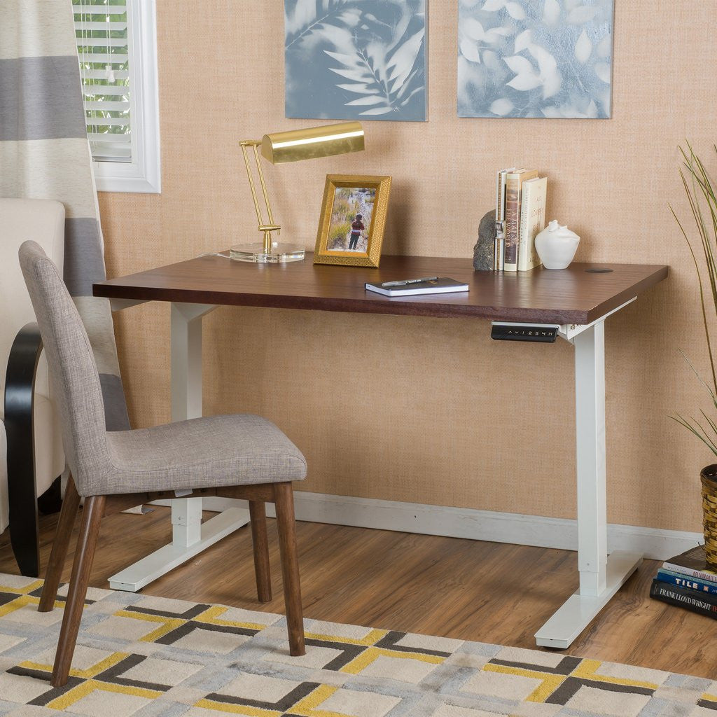 table wood desk with square mirror inch wide natural writing simple tall